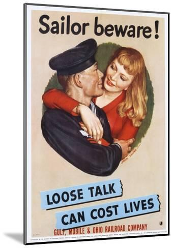Sailor Beware! Poster-John Falter-Mounted Giclee Print