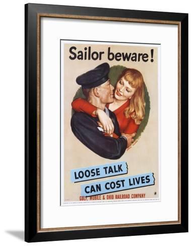 Sailor Beware! Poster-John Falter-Framed Art Print