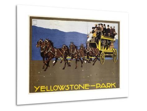Yellowstone-Park Poster-Ludwig Hohlwein-Metal Print