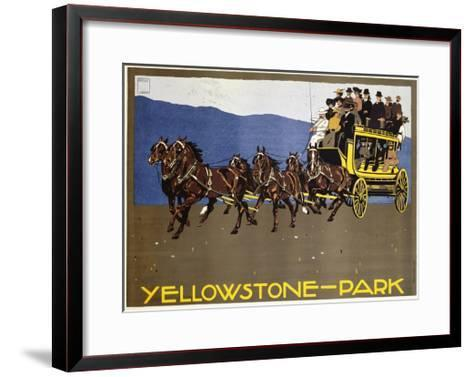 Yellowstone-Park Poster-Ludwig Hohlwein-Framed Art Print