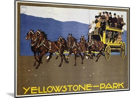 Yellowstone-Park Poster-Ludwig Hohlwein-Mounted Giclee Print