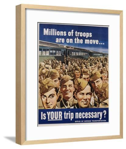 Is Your Trip Necessary? Poster-Montgomery Melbourne-Framed Art Print