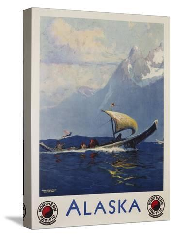 Alaska - Northern Pacific Railway Travel Poster-Sidney Laurence-Stretched Canvas Print