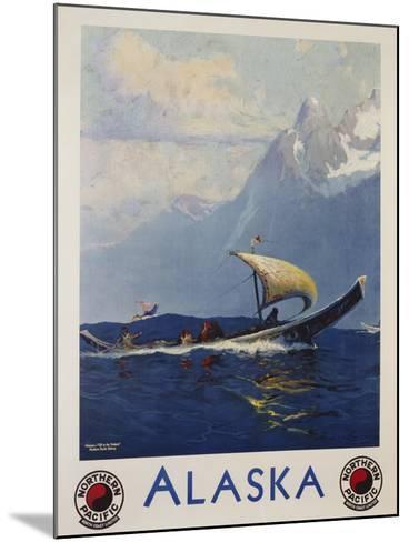 Alaska - Northern Pacific Railway Travel Poster-Sidney Laurence-Mounted Giclee Print