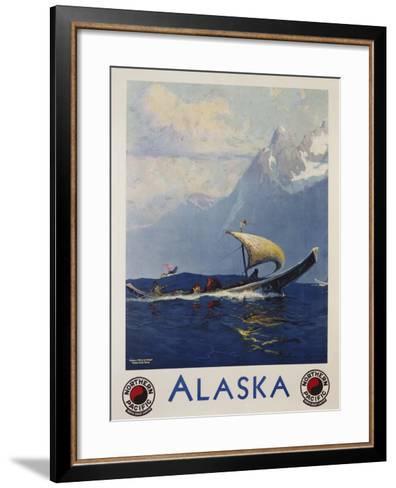 Alaska - Northern Pacific Railway Travel Poster-Sidney Laurence-Framed Art Print