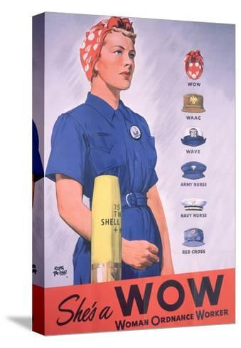 She's a Wow Poster-Adolph Treidler-Stretched Canvas Print