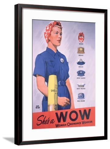 She's a Wow Poster-Adolph Treidler-Framed Art Print