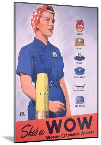 She's a Wow Poster-Adolph Treidler-Mounted Giclee Print
