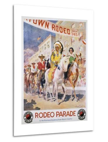 Rodeo Parade Northern Pacific Railroad Poster-Edward Brener-Metal Print