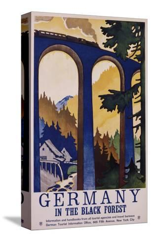 Germany in the Black Forest Poster-Friedel Dzubas-Stretched Canvas Print