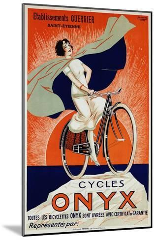 Onyx Cycles-Fritayre-Mounted Giclee Print