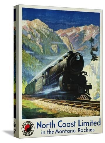 North Coast Limited in the Montana Rockies Poster-Gustav Krollmann-Stretched Canvas Print