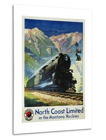 North Coast Limited in the Montana Rockies Poster-Gustav Krollmann-Metal Print