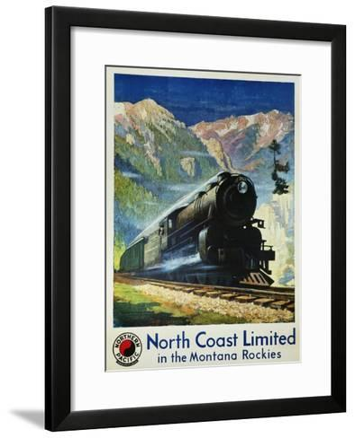 North Coast Limited in the Montana Rockies Poster-Gustav Krollmann-Framed Art Print
