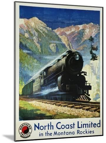 North Coast Limited in the Montana Rockies Poster-Gustav Krollmann-Mounted Giclee Print