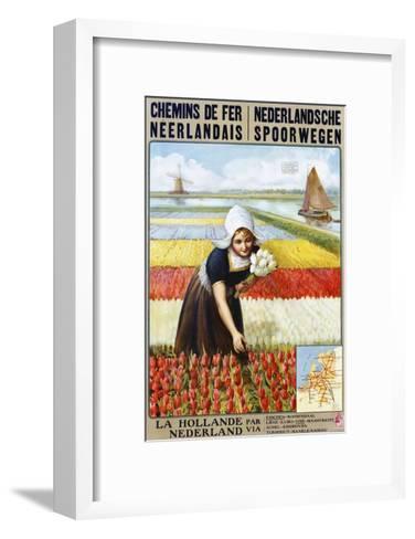 Chemins De Fer Neerlandais Travel Poster--Framed Art Print