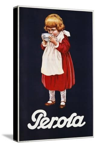 Perola Hot Chocolate Advertisement Poster--Stretched Canvas Print