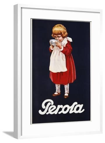Perola Hot Chocolate Advertisement Poster--Framed Art Print