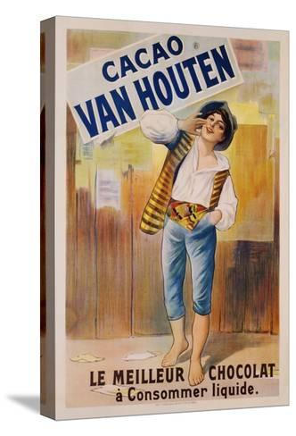 Circa 1900 French Poster for Cacao Van Houten--Stretched Canvas Print