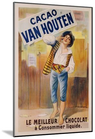 Circa 1900 French Poster for Cacao Van Houten--Mounted Giclee Print