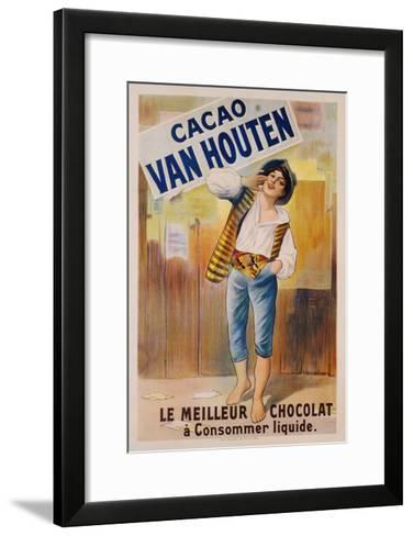 Circa 1900 French Poster for Cacao Van Houten--Framed Art Print
