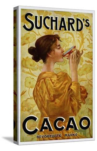 Circa 1905 Belgian Poster for Suchard's Cacao--Stretched Canvas Print