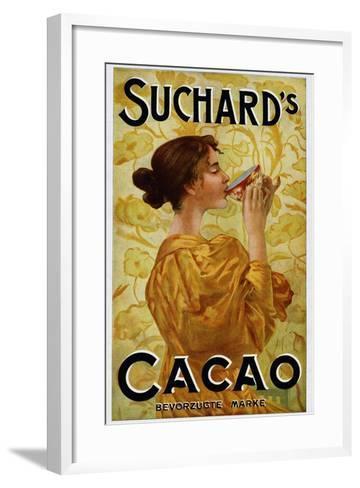 Circa 1905 Belgian Poster for Suchard's Cacao--Framed Art Print