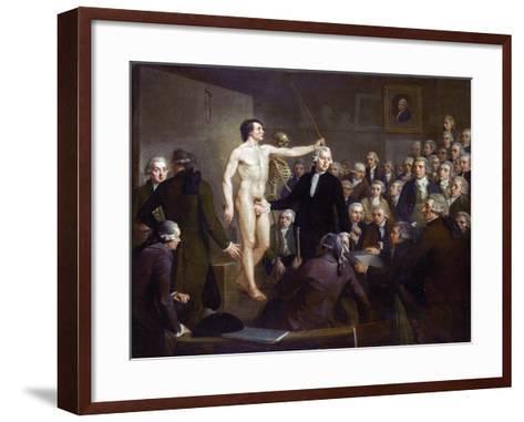 Anatomy Lecture-Adriaan De Lelie-Framed Art Print