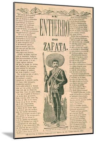 Broadside with Burial of Emiliano Zapata--Mounted Giclee Print