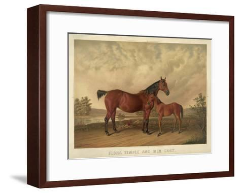 Flora Temple and Her Colt--Framed Art Print