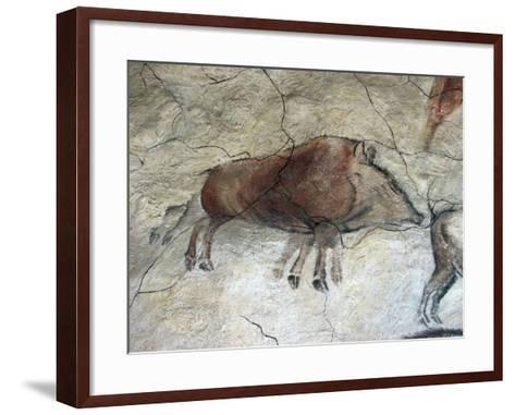 Replica of Cave Painting of Boar from Altamira Cave--Framed Art Print