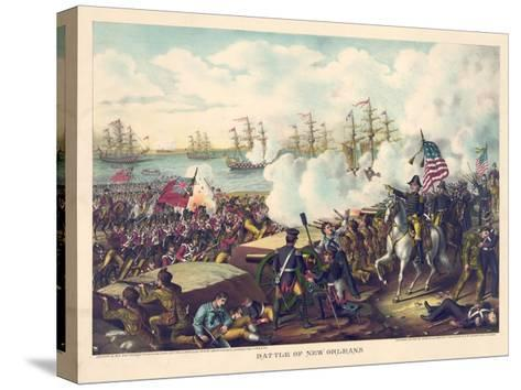 Battle of New Orleans--Stretched Canvas Print