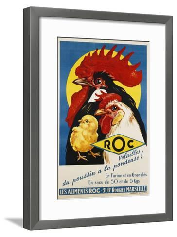 Roc Les Aliments Chicken Feed Poster--Framed Art Print