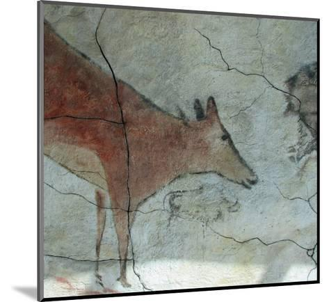 Replica of Cave Painting of Doe from Altamira Cave--Mounted Giclee Print