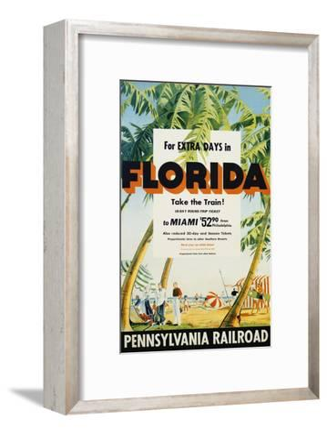 Florida, Pennsylvania Railroad Poster--Framed Art Print