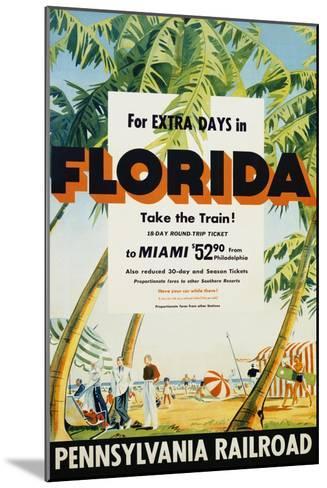 Florida, Pennsylvania Railroad Poster--Mounted Giclee Print