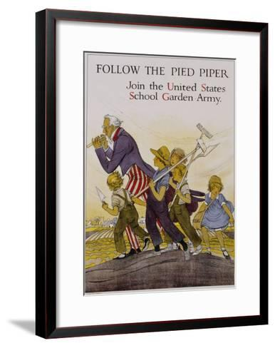 Follow the Pied Piper United States School Garden Poster--Framed Art Print