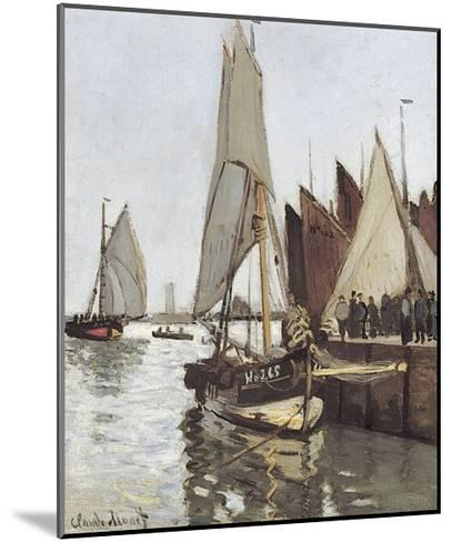 Sailboat at Honfleur-Claude Monet-Mounted Giclee Print