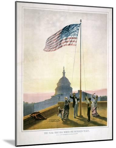 The Flag That Has Waved for One Hundred Years--Mounted Giclee Print