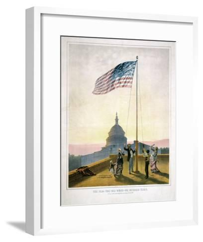 The Flag That Has Waved for One Hundred Years--Framed Art Print