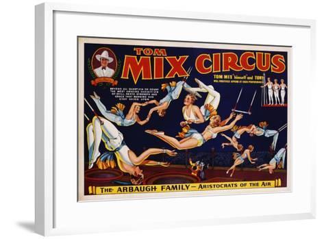 Tom Mix Circus Poster--Framed Art Print