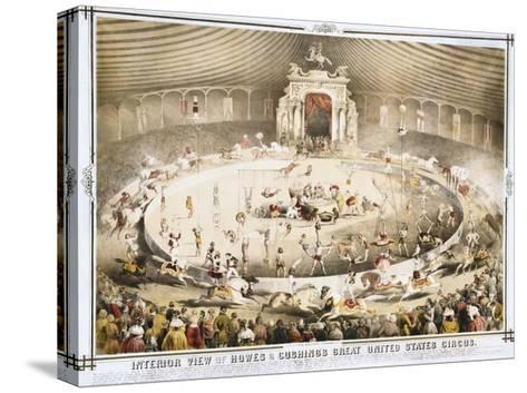 Interior View of Howes and Cushing's Great United States Circus Poster--Stretched Canvas Print
