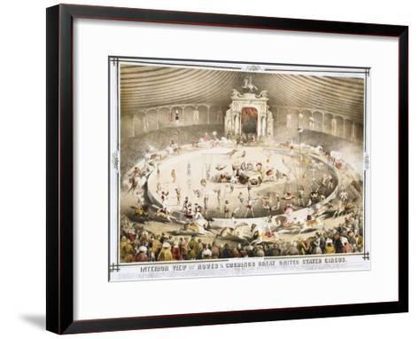 Interior View of Howes and Cushing's Great United States Circus Poster--Framed Art Print