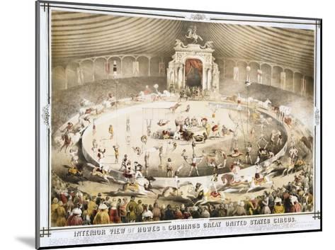 Interior View of Howes and Cushing's Great United States Circus Poster--Mounted Giclee Print
