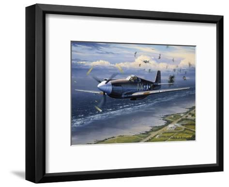 American Planes on Reconnaissance Mission over Normandy--Framed Art Print