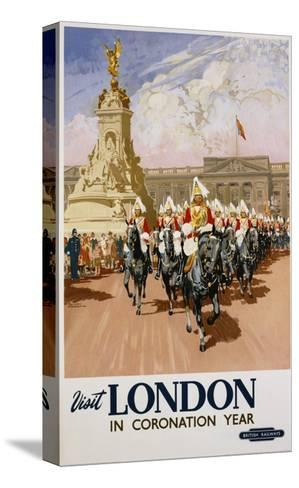 Visit London in Coronation Year Poster--Stretched Canvas Print