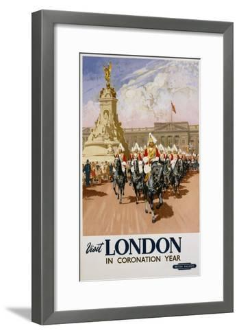 Visit London in Coronation Year Poster--Framed Art Print