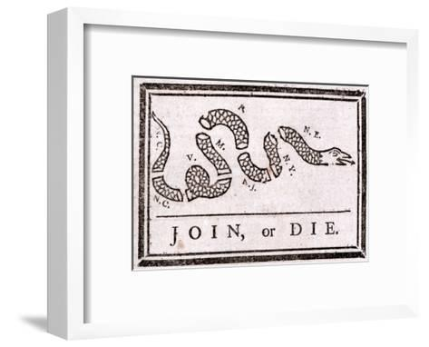 Join or Die Political Cartoon Giclee Print by Benjamin Franklin ...