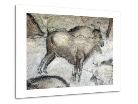 Replica of Cave Painting of Bison from Altamira Cave--Metal Print