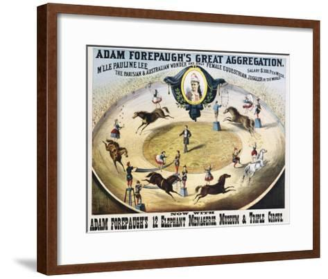 Adam Forepaugh's Great Aggregation Poster--Framed Art Print